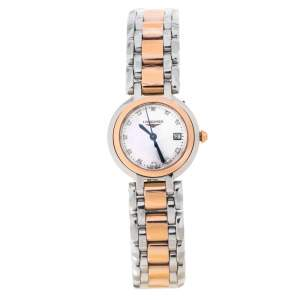 Longines Mother Of Pearl 18K Rose Gold Stainless Steel Diamond PrimaLuna L8.110.5.87.6 Women's Wristwatch 26.50 mm