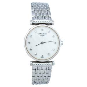 Longines Mother Of Pearl Stainless Steel La Grande Classique De Longines Women's Wristwatch 24mm