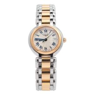 Longines Silver 18K Rose Gold & Stainless Steel Prima Luna L81105786 Women's Wristwatch 26 mm