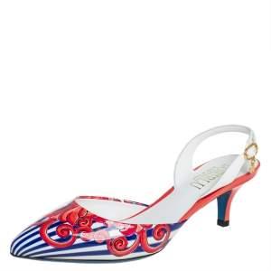 Loriblu Multicolor Patent Leather Slingback Sandals 36