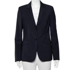 Loro Piana Navy Blue Wool Button Front Nolan Blazer M