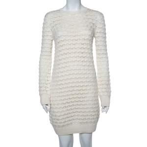 Loro Piana Cream Chunky Knit Sweater Dress S