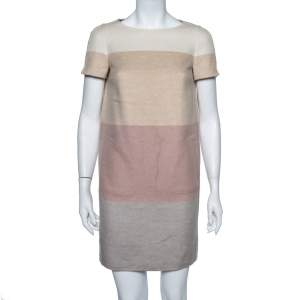 Loro Piana Colorblock Striped Cashmere Ellis Dress S