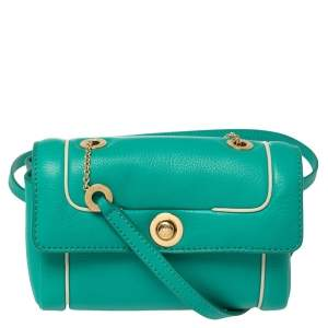 Loro Piana Green Leather Crossbody Bag