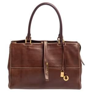 Loro Piana Brown Leather Tote