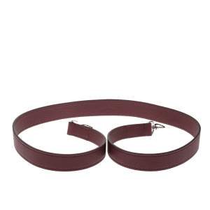 Louis Vuitton Burgundy Leather Shoulder Strap