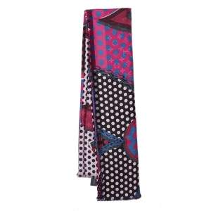 Louis Vuitton Magenta Monodots Monogram Silk & Wool Scarf