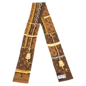 Louis Vuitton Brown Monogram Confidential Silk Bandeau