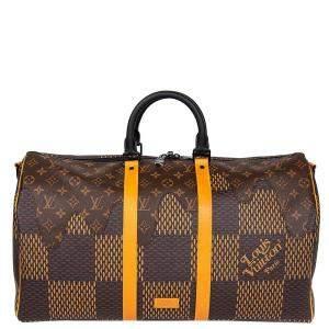 Louis Vuitton Nigo Monogram Canvas Keepall Bandouliere 50 (2020 Limited Edition)