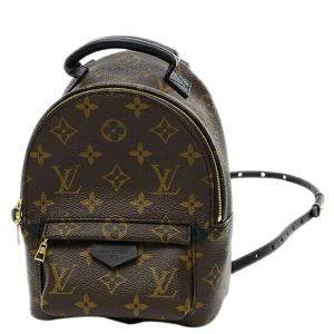 Louis Vuitton Brown Monogram Canavs Palm Springs Mini Backpack Bag