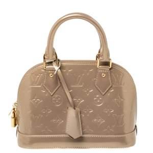 Louis Vuitton Beige Poudre Monogram Vernis Alma BB Bag