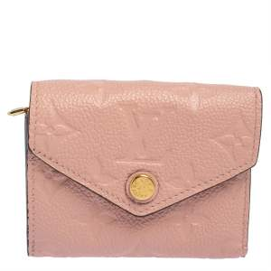 Louis Vuitton Rose Poudre Monogram Empreinte Leather Zoe Wallet