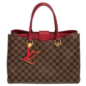 Louis Vuitton Lie De Vin Damier Ebene Canvas LV Riverside Bag