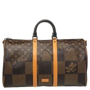 Louis Vuitton x Nigo Monogram/Giant Damier Ebene Canvas Keepall Bandouliere 50 Bag