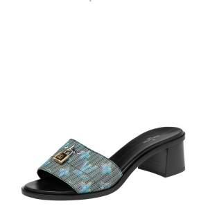 Louis Vuitton Multicolor LV Pop Monogram Canvas Lock It Mule Sandals Size 40