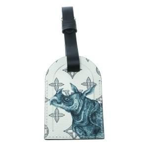 Louis Vuitton White/Blue Savane Monogram Canvas and Leather Chapman Brothers Rhino Luggage Tag