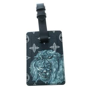 Louis Vuitton Blue Savane Monogram Canvas and Leather Chapman Brothers Lion Luggage Tag