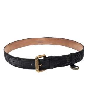 Louis Vuitton Black Monogram Denim Belt 80CM
