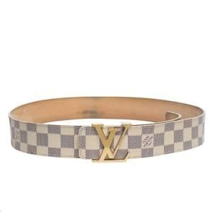 Louis Vuitton Damier Azur Canvas Initiales Belt 90CM