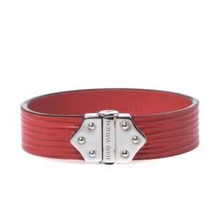 Louis Vuitton Red Epi Leather Spirit Bracelet 17