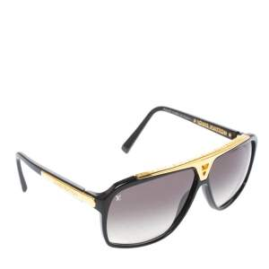 Louis Vuitton Black & Gold/ Grey Gradient Z0105W Evidence Aviator Sunglasses