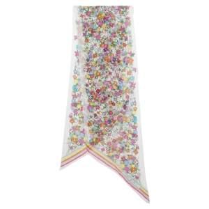 وشاح لوي فيتون أوليفيا حرير طباعة زهور متعدد الألوان