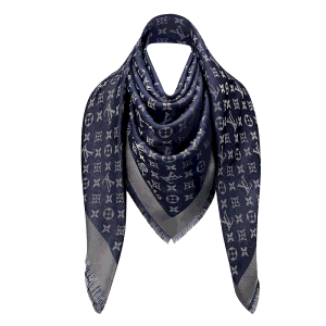 Louis Vuitton Blue Nuit Monogram Shine Shawl