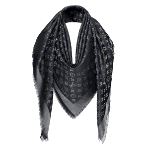 Louis Vuitton Black Monogram Shine Shawl