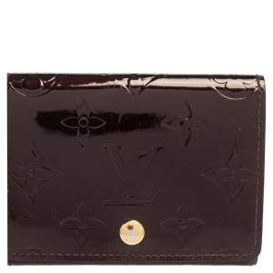 Louis Vuitton Amarante Monogram Vernis Business Card Holder