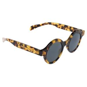 Louis Vuitton x Supreme Havana Brown / Grey Z0990W Downtown Round Sunglasses