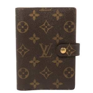 Louis Vuitton Monogram Canvas Small Ring Agenda PM Cover