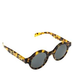 Louis Vuitton x Supreme Brown Tortoise Downtown Round Sunglasses