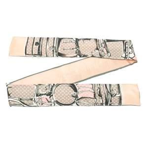 Louis Vuitton Rose Poudre Trunks Print Silk Bandeau