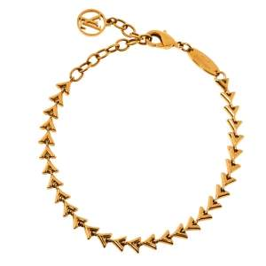 Louis Vuitton Petit Essential V Gold Tone Bracelet