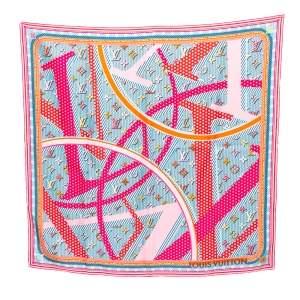 Louis Vuitton Multicolor Monogram Printed Silk Pop Square Scarf