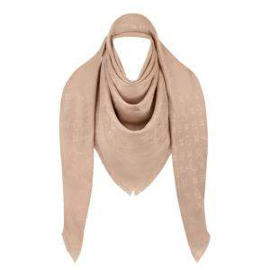 Louis Vuitton Natural Monogram Wool and Silk Shawl