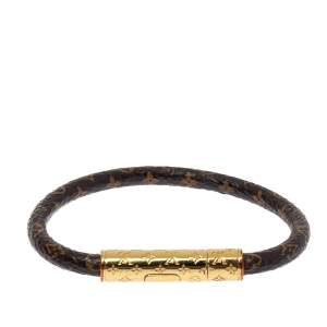Louis Vuitton Brown Monogram Canvas LV Confidential Bracelet
