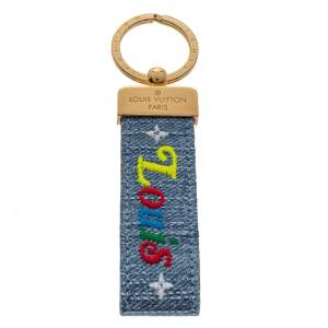 Louis Vuitton New Wave Dragonne Denim Key Ring