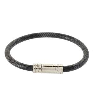 Louis Vuitton Graphite Damier Canvas Keep It Bracelet