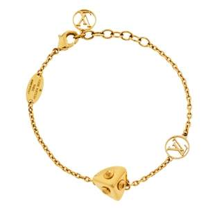 Louis Vuitton Gold Tone Trunk Bracelet