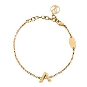 Louis Vuitton LV & Me Letter A Gold Tone Bracelet
