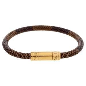 Louis Vuitton Brown Damier Canvas Keep It Bracelet