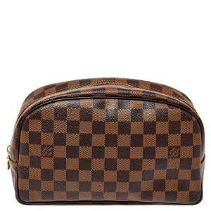 Louis Vuitton Damier Ebene Canvas Trousse Toiletry Pouch 25
