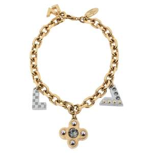Louis Vuitton Two Tone Love Letter Timeless Charm Bracelet