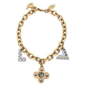 Louis Vuitton Two Tone Love Letter Timeless Charm Bracelet