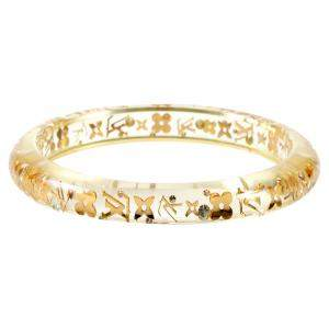 Louis Vuitton Clear Resin Monogram Inclusion Bangle Bracelet