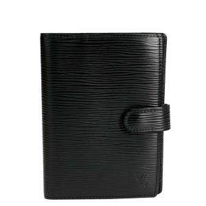 Louis Vuitton Black Epi Leather Small Ring Agenda Cover