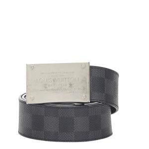 Louis Vuitton Black Damier Ebene canvas Belt