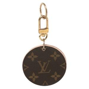 Louis Vuitton Brown Monogram & Rose Ballerine Canvas Mirror Keyring/ Bag Charm