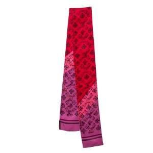 Louis Vuitton Coquelicot Red Monogram Rainbow Giant Bandeau